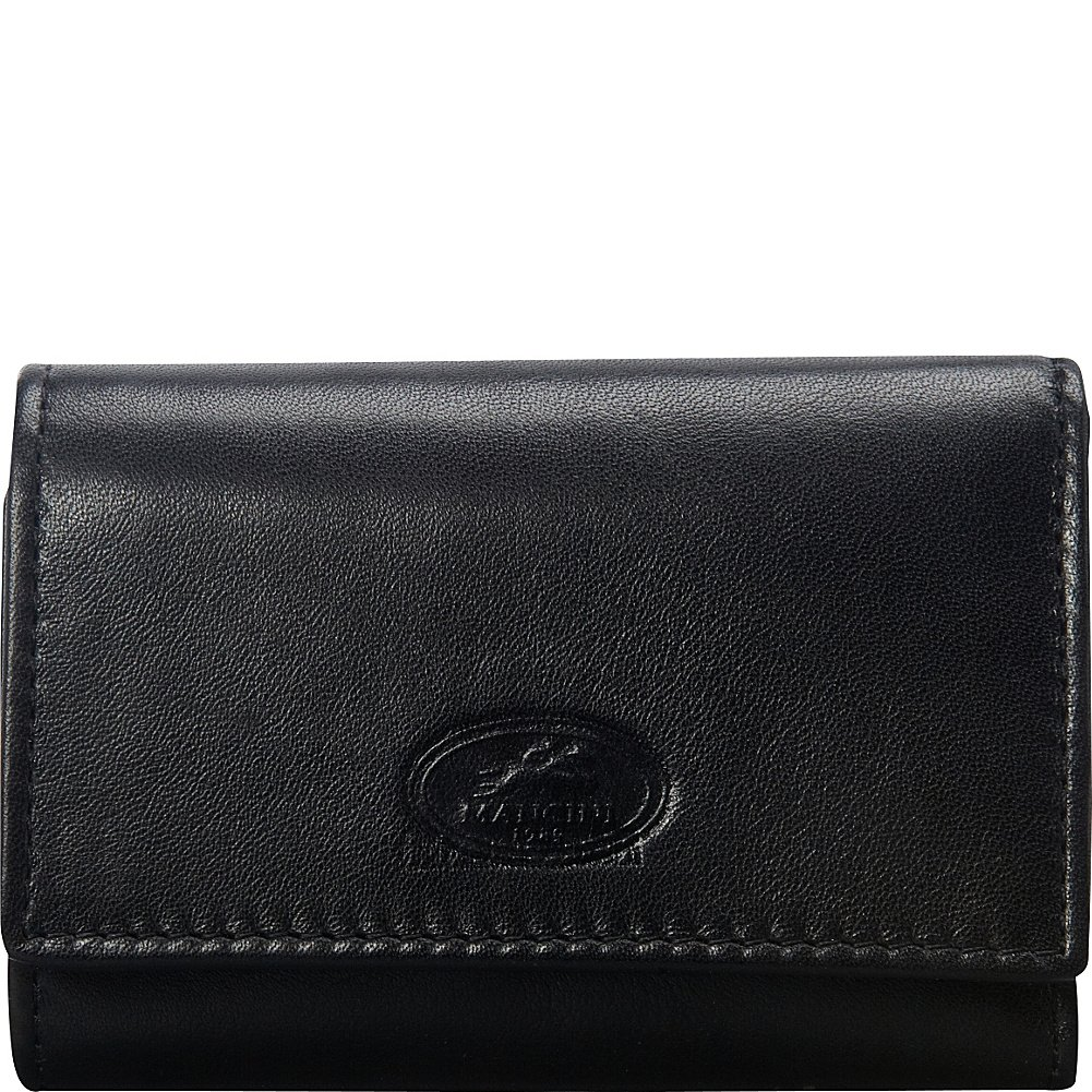 Mancini Rfid Secure Trifold Key Case Wallet with Detachable Key Ring, Black, Under Seat 2010113-bk