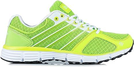 Exani - Zapatillas de running para hombre verde Grün/ Weiß Talla:42: Amazon.es: Deportes y aire libre