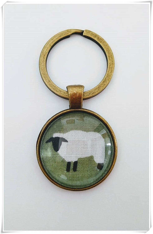 Llavero con diseño de Oveja de Heng Yuan, Verde y Blanco ...
