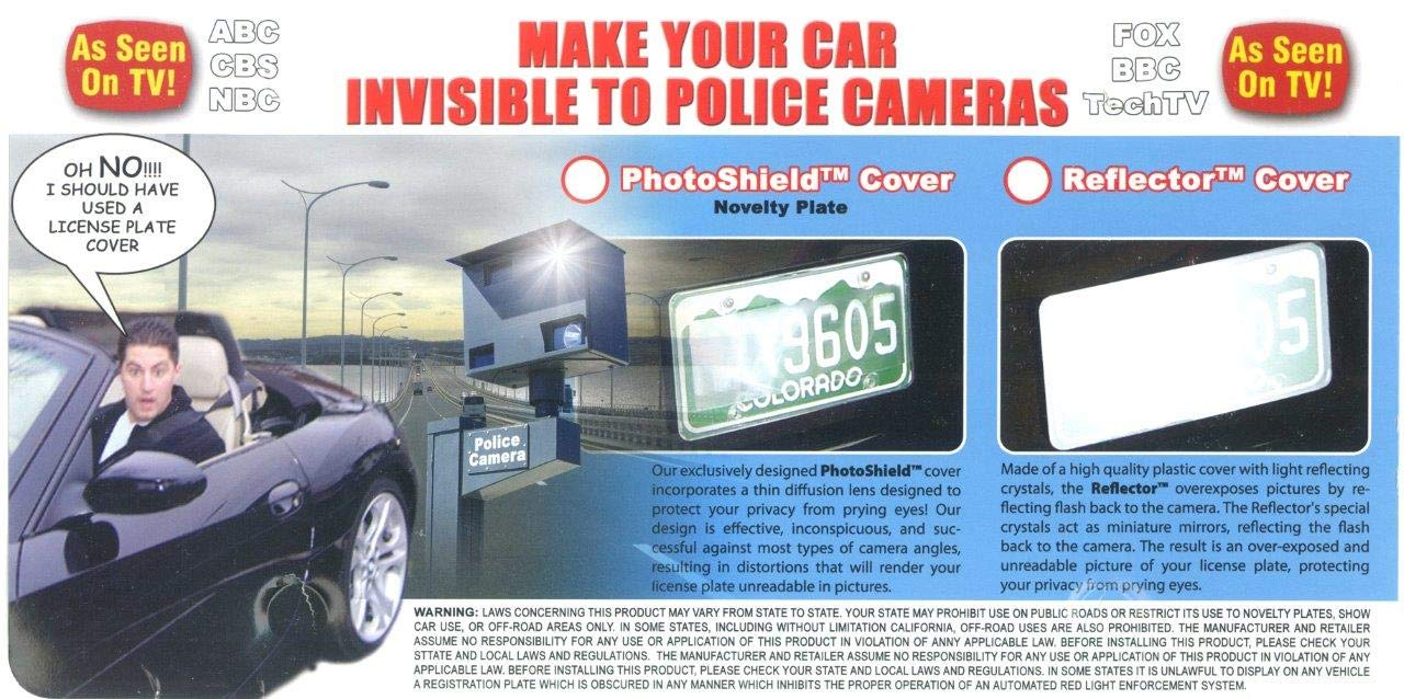 License Plate Frame Cover License Plate Number Protective Film Reflective  Cover to Red Light Flash Camera
