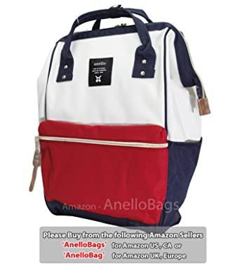 6fb13adcdeca Japan Anello Backpack Unisex LARGE MIX-F Rucksack Waterproof Canvas Bag  Campus