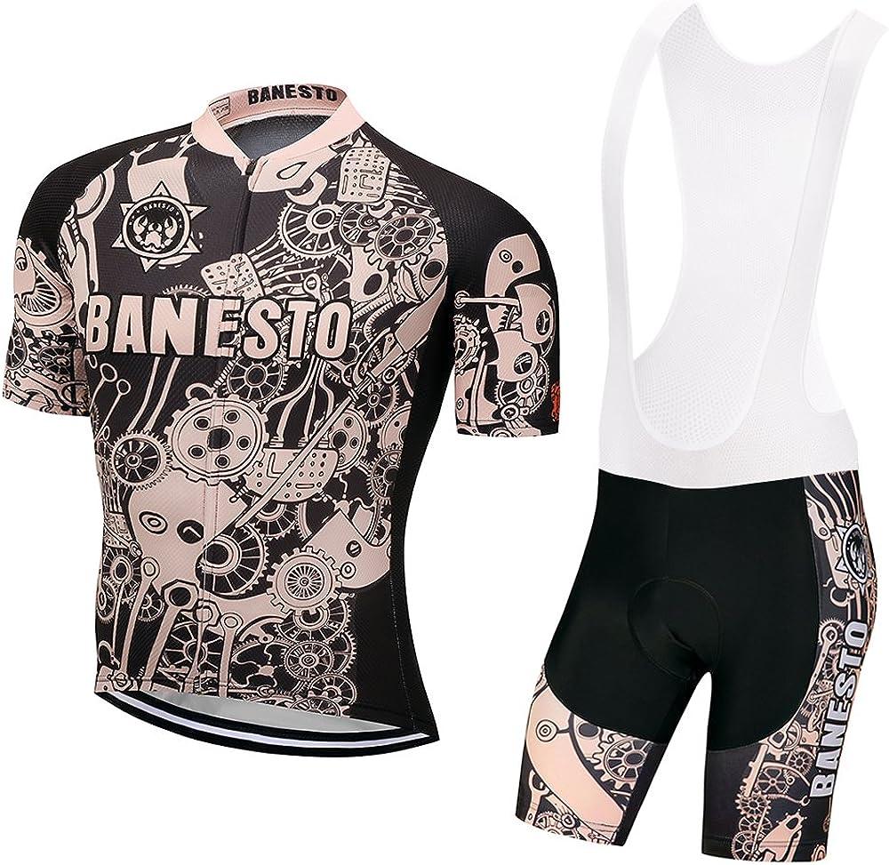 Mens Team Cycling Jersey And Bib Shorts Set Cycling Bib Shorts Cycling Bib Pants