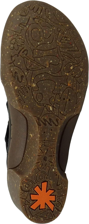 Art 1566 Bottines compensées pour femme Ankle Boot Rotterdam Noir Noir
