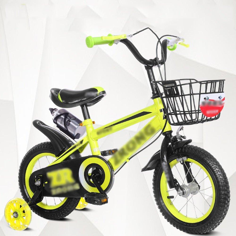 HAIZHEN マウンテンバイク キッズバイク、サイズ12インチ、14インチ、16インチ、18インチレッドブルーイエローハンドルバー高さ調節可能 新生児 B07C6F8LDP 16 inches|イエロー いえろ゜ イエロー いえろ゜ 16 inches