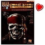 Pirates of the Caribbean - Cello Play-Along Volume 3 - 8 pieces from the hit movie - NotenBuch, Online-Audio mit bunter herzförmiger Notenklammer