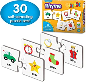 The Learning Journey: Match It! - Rhyme - 30 Self-Correcting Rhyming Words with Matching Images For Emerging Readers