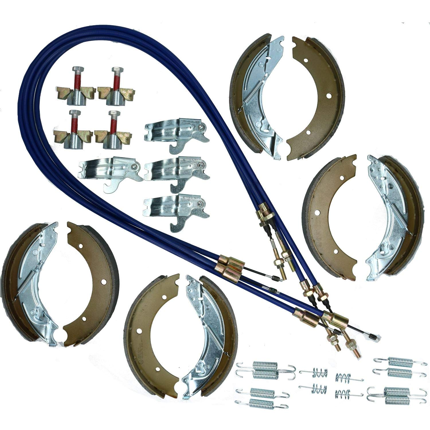 AB Tools/_URB Brake Shoe /& Cable Full Kit for Ifor Williams Flatbed Trailer LM7 Series 3500kg