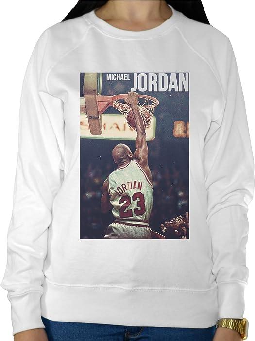 Sudadera Ligera Para Mujer, Diseño de Michael Jordan Nombre Prensada