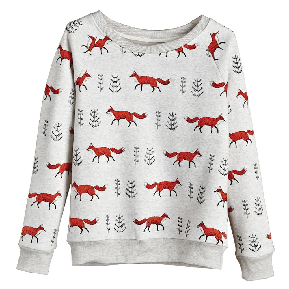 CATALOG CLASSICS Women's Foxy Sweatshirt - Heathered Gray - XXL