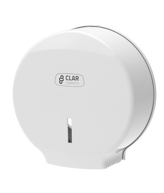 Clar Systems P3000PB Dispensador de Papel Higiénico en Rollo, Blanco: Amazon.es: Industria, empresas y ciencia