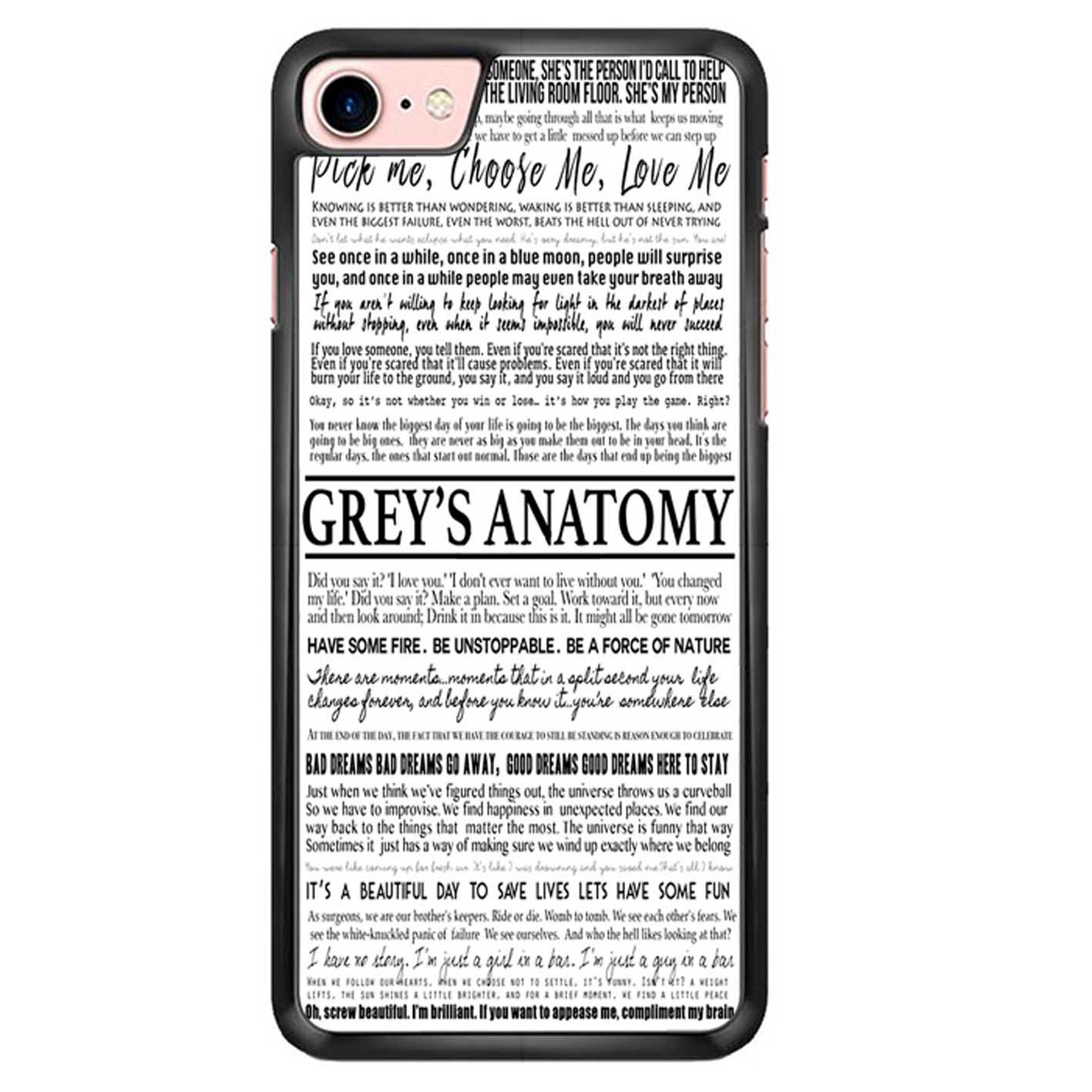 Amazon.com: Grey S Anatomy - Typography 1 Iphone 6 Case AQ: Cell ...