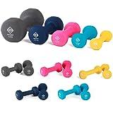 Gallant Neoprene Hand Dumbbells Weights Fitness Home Gym Exercise Barbell 1Kg, 2Kg, 3Kg, 5Kg, 8Kg and 10Kg Pairs Light Heavy Ladies Mens Dumbbells