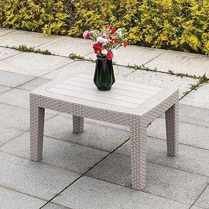 Amazon.com: Bonnlo - Mesa de café moderna para patio, todo ...
