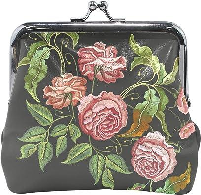 Coin Purse Hummingbirds Embroidery Wallet Buckle Clutch Handbag For Women Gift