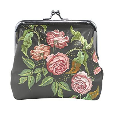 Amazon.com: Monedero de colibrí bordado cartera hebilla ...