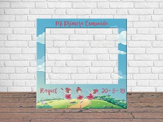 Regalos para Comuniones Photocall Econ/ómico y Original Regalos Personalizados de Comuni/ón Photocall Mi Primera Comuni/ón Ni/ña 100 x100 cm Ideas para Regalos