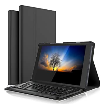 Luibor Keyboard Case Compatible with Lenovo Moto Tab 10.1 Inch Tablet Front Prop Stand Case with Removable Wireless Keyboard for Lenovo Moto Tab 10.1 ...