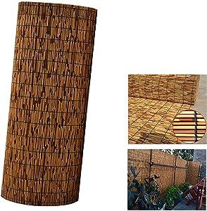 yuzhiyu Reed Fence Rolls, Garden Privacy Screen, Balcony Bamboo Fence Rolls, Decorative Fences, Blackout Sun Shade, for Patio Outdoor Garden, 2 3 4 Feet High