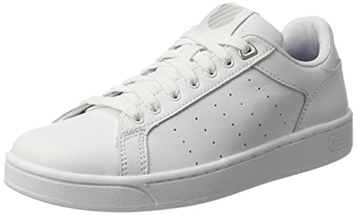 K-Swiss Clean Court CMF, Zapatillas Para Mujer, Blanco (White/Gray Marble), 40 EU