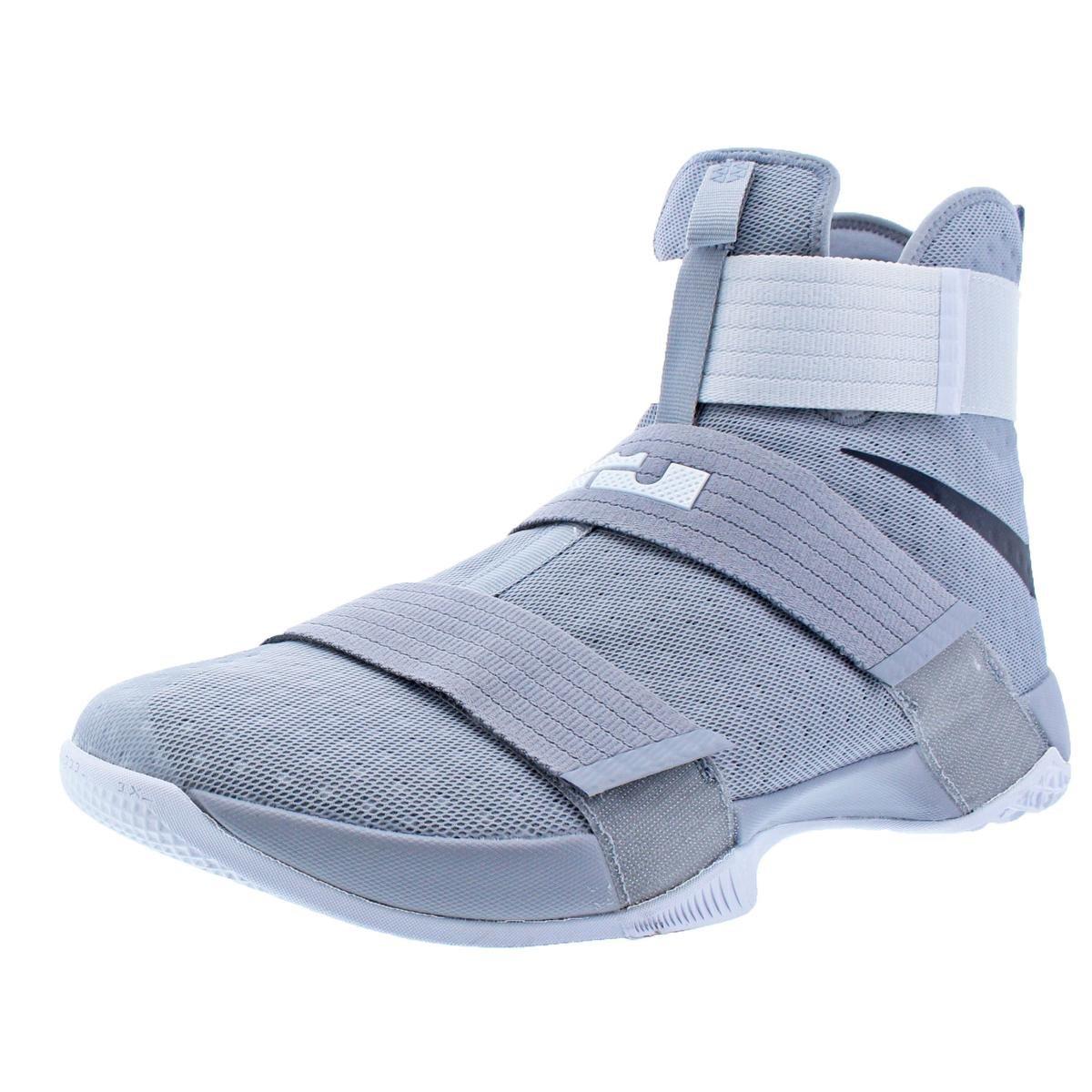 NIKE Lebron Soldier 10 Mens Basketball Shoes B073NG56HL 18 Medium (D) D US Mens|Wolf Grey/Black/White