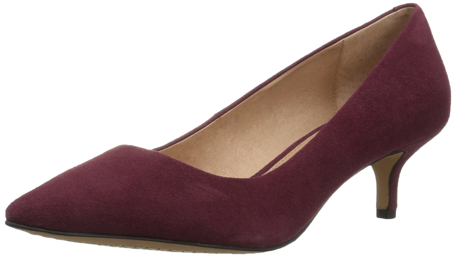 206 Collective Women's Queen Anne Kitten Heel Dress Pump, Burgundy, 8.5 B US by 206 Collective (Image #1)