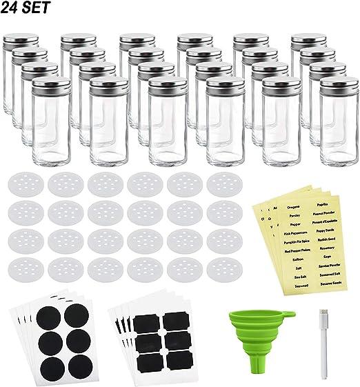 2 X Vidrio spice//herb Frascos Con Tapas Para Cocina Rack racks de almacenamiento Frascos