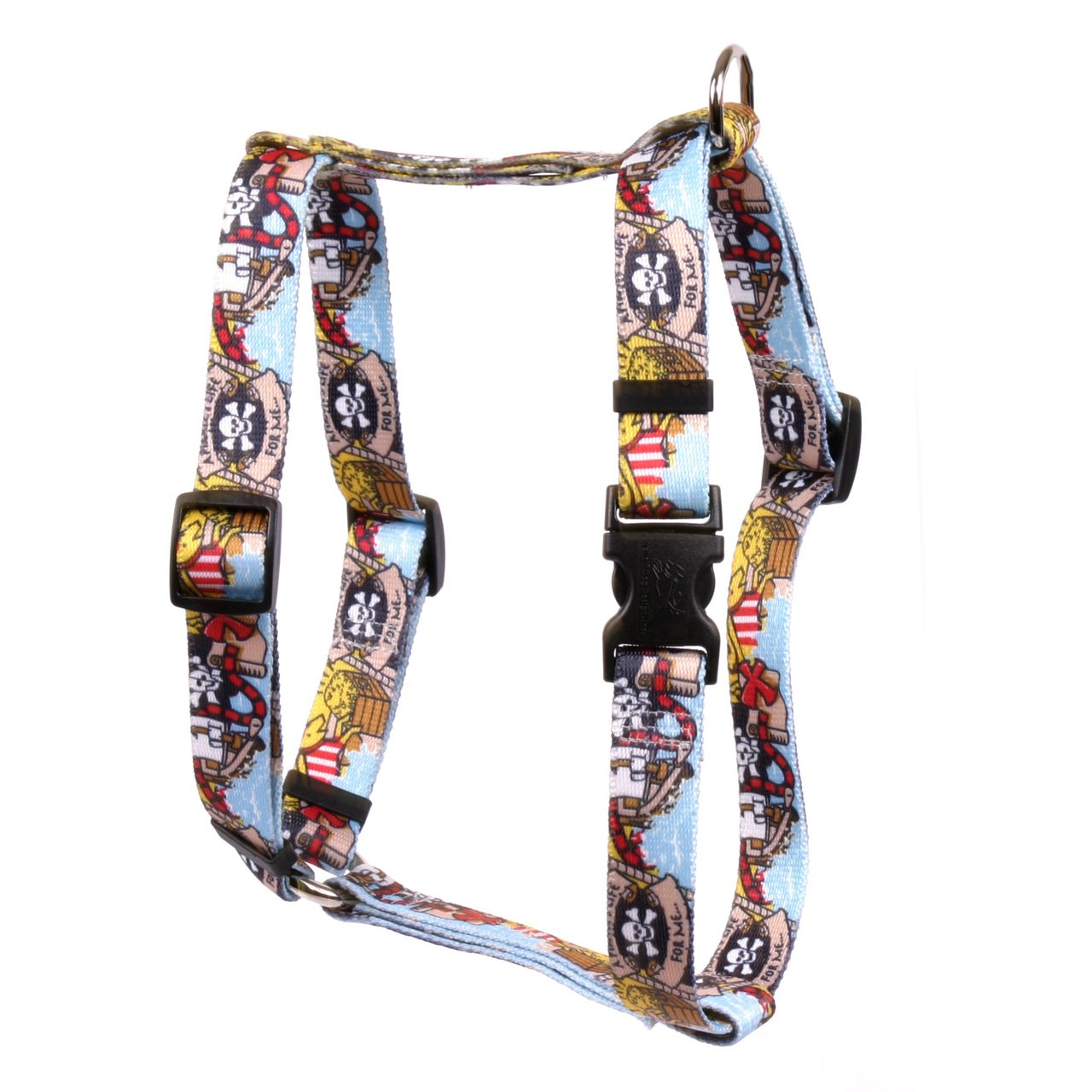 Yellow Dog Design Pirate Booty Roman Style H Dog Harness, Small/Medium-3/4 Wide fits Chest of 14 to 20''