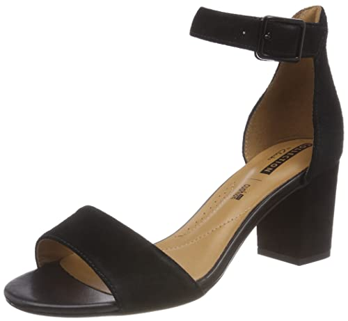 cac0b948678 Clarks Deva Mae Suede Sandals in Black  Amazon.co.uk  Shoes   Bags