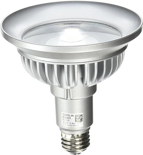 Bulbrite SP38-18-09D-830-03 SORAA 18.5W LED PAR38 3000K PREM. 9 DIM, Silver