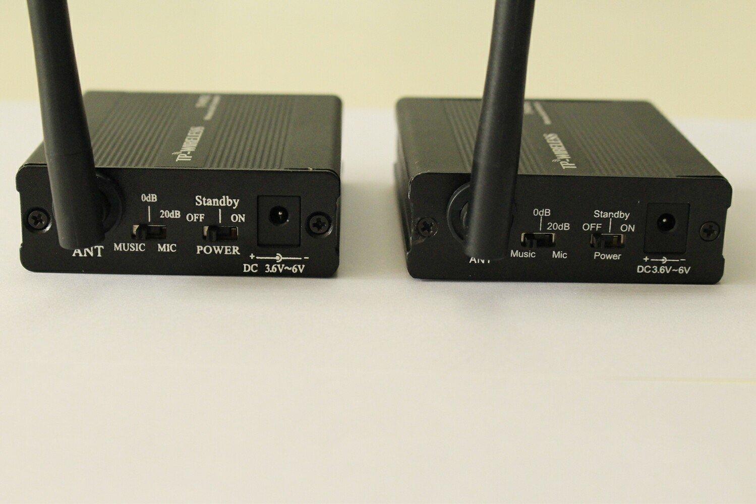 TP-WIRELESS 2.4GHz Digital Wireless HDCD Audio Adapter Music Sound Transmitter and Receiver (1 Transmitter and 1 Receiver) by TP-WIRELESS