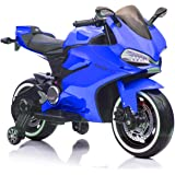 Fit Right 12V Kids Bike Ride On Toys Dirt Bike Motorcycle, Electric Mini Bike with Bluetooth, LED Wheels and Traning…