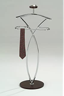 Kings Brand Walnut Finish Wood U0026 Metal Suit Valet Rack Stand Organizer