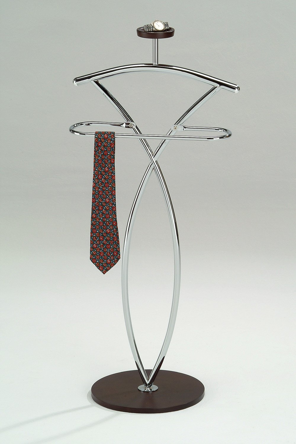 King's Brand Walnut Finish Wood & Metal Suit Valet Rack Stand Organizer by King's Brand