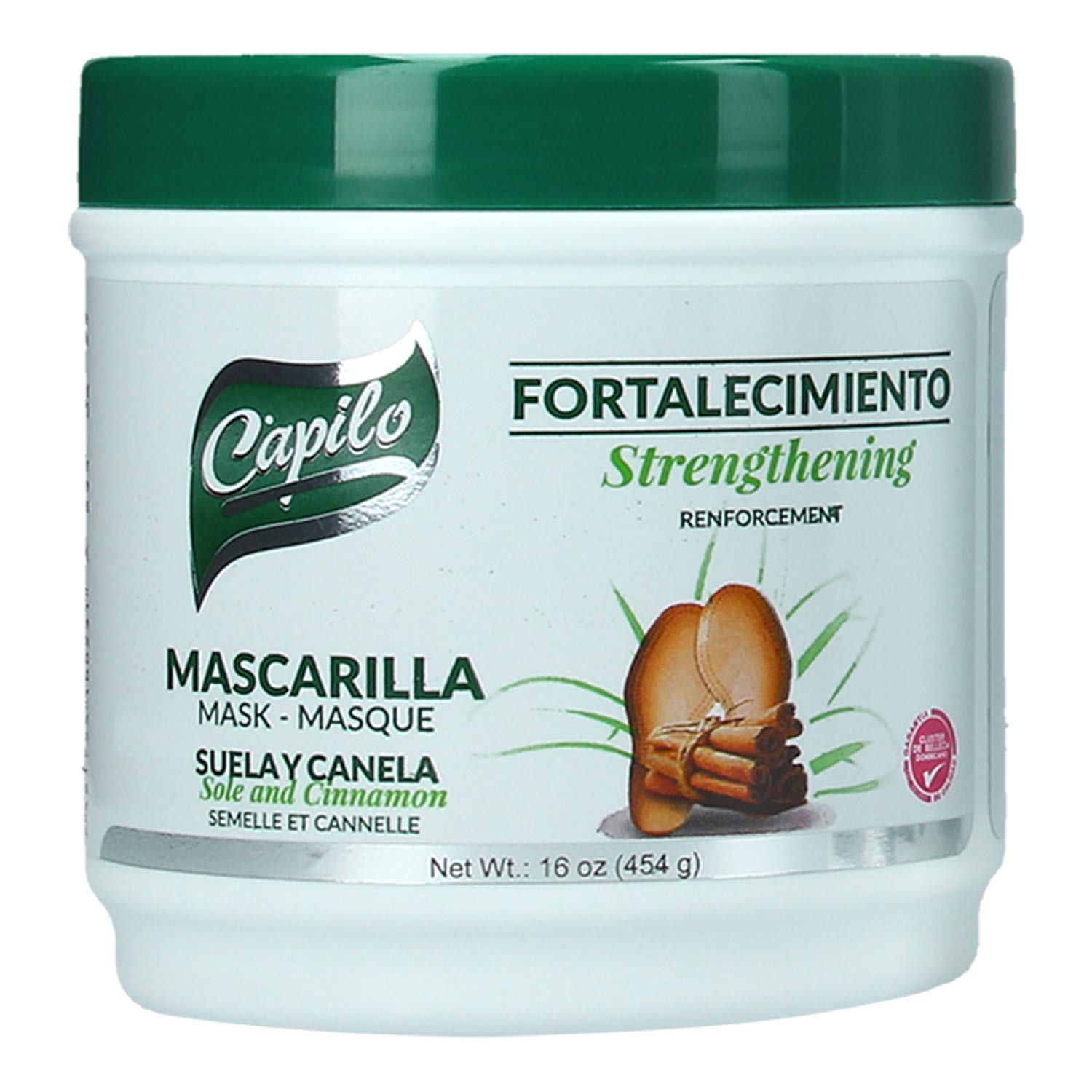 Capilo Sole And Cinnamon Strengthening Mask 16 Oz Tub Mineral Oil Free Petroleum Jelly Free Beauty
