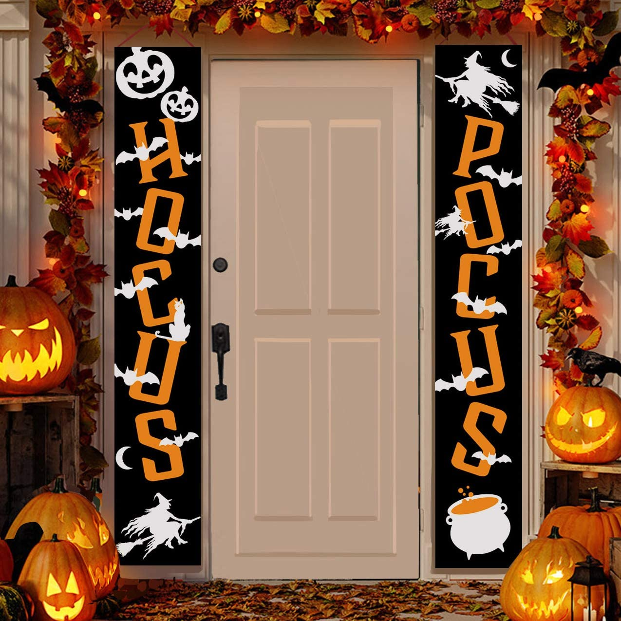 """JOYIN Halloween Hocus Pocus Banner Hanging Porch Sign 72"""" Decorative for Home Offer Creepy Themed Party Indoor Outdoor Trick or Treat Decor"""