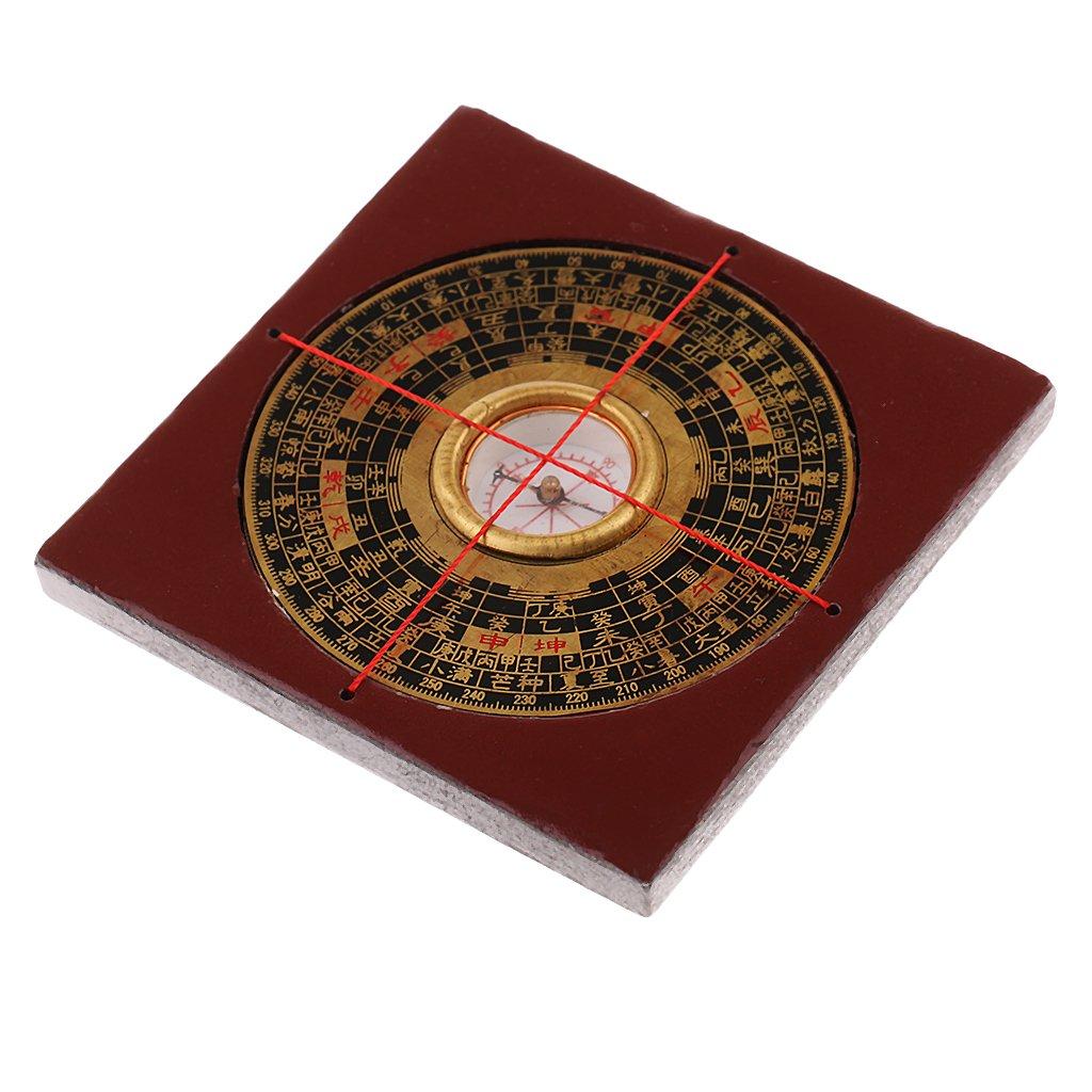 monkeyjack 3インチ風水コンパスLuoパンFengshuiツールプロフェッショナルGeomantic 3つ組み合わせた木製ボックス   B0787HJMZ1
