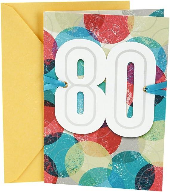 Hallmark 80th Birthday Card