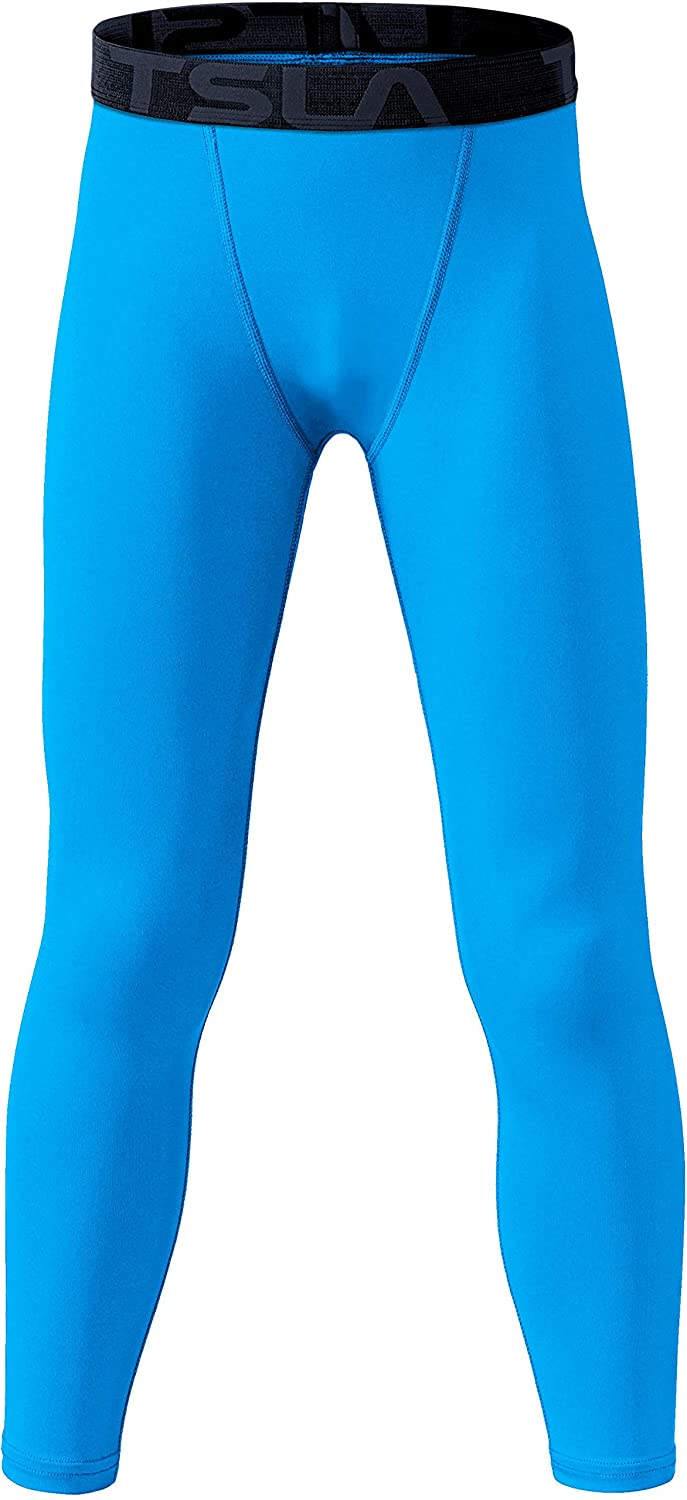 Sports 4-Way Stretch Workout Leggings TSLA Boys Youth UPF 50 Cool Dry Active  Running Tights Compression Pants Baselayer Pants Sports & Outdoors