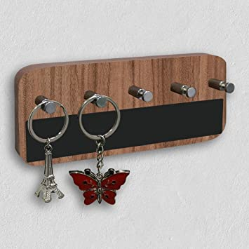 a5f4b4a9376 A10SHOP Wooden Omega 3 Walnut Keyhold - Wall Mounted Key Chain Hanging  Board Box
