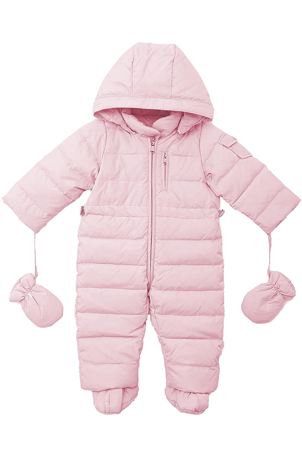 Oceankids Baby Girls' Pram One-Piece Snowsuit Attached Hood 0-24 Months OC14221021PK3M