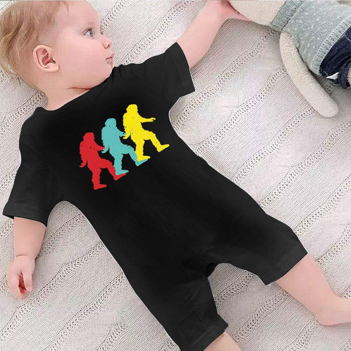Vintage Bigfoot Silhouette Baby Boys Coverall One Piece Toddler Jumpsuit