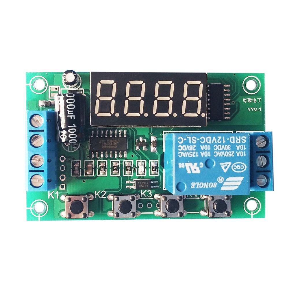 KKmoon Charge Dé charge Tension Monitor Test Relais Commutateur Contrô le Conseil Module DC 12V