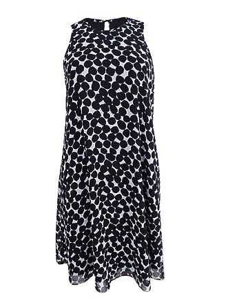 Calvin Klein Womens Polka Dot Trapiz Dress At Amazon Womens
