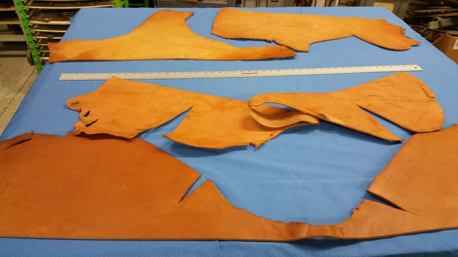Veg-Tann/Harness/Bridle Full Grain Leather Natural, Bundle #13/10 oz +