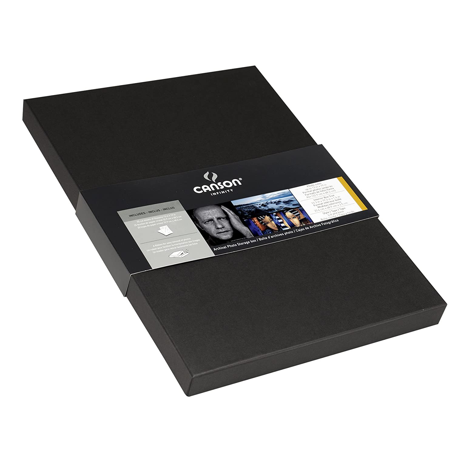 Amazon.com: Canson Infinity Archival Box, for Images and Documents up to 8.5 x 11 inches, Fits 8.5 x 11 Inch Sheets, Black: Arts, Crafts & Sewing