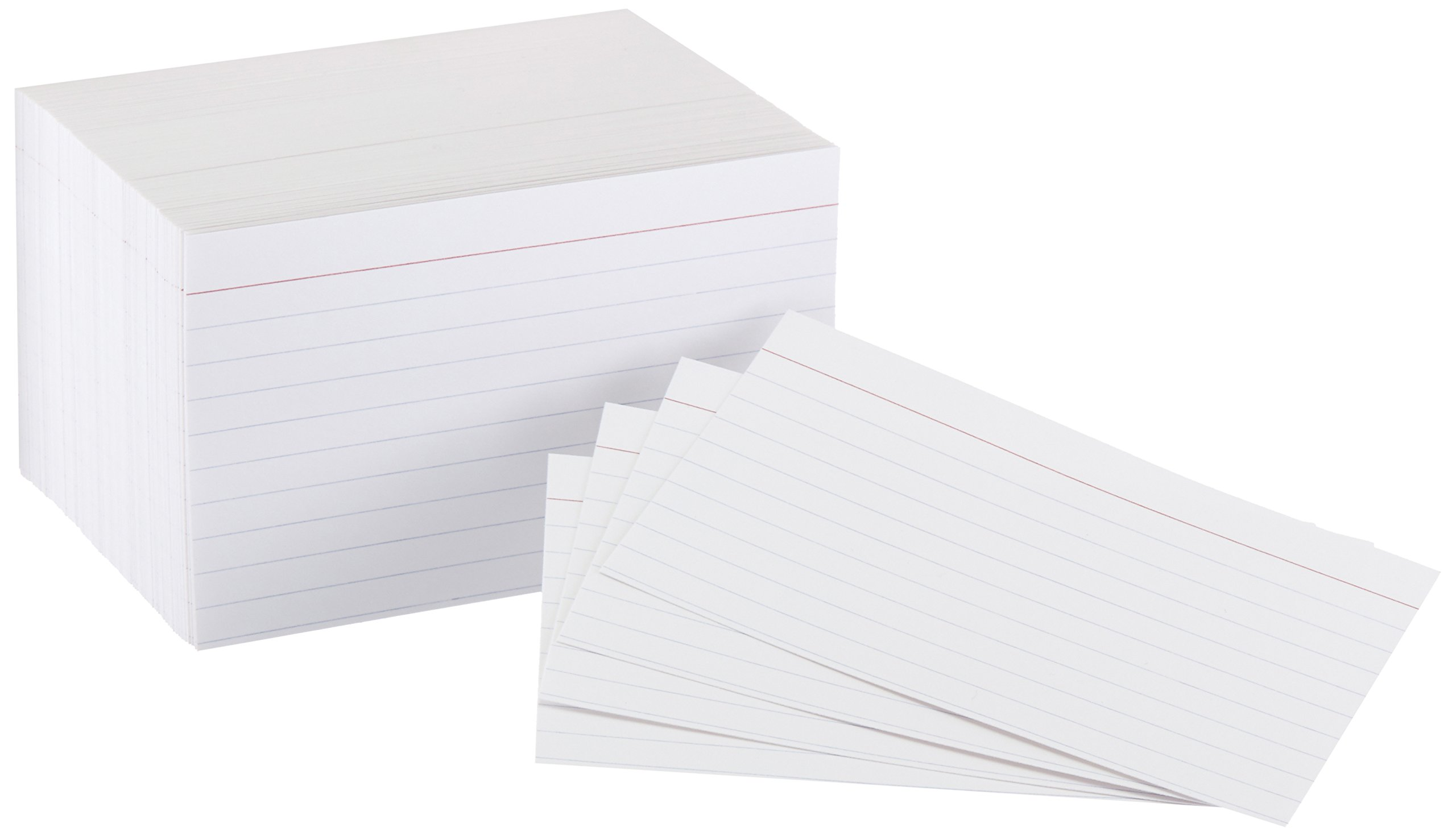 AmazonBasics Heavy Weight Ruled Index Cards, White, 3x5-Inch, 300-Count