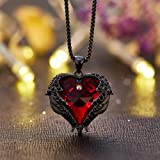 NEWNOVE Heart of Ocean Pendant Necklaces for Women