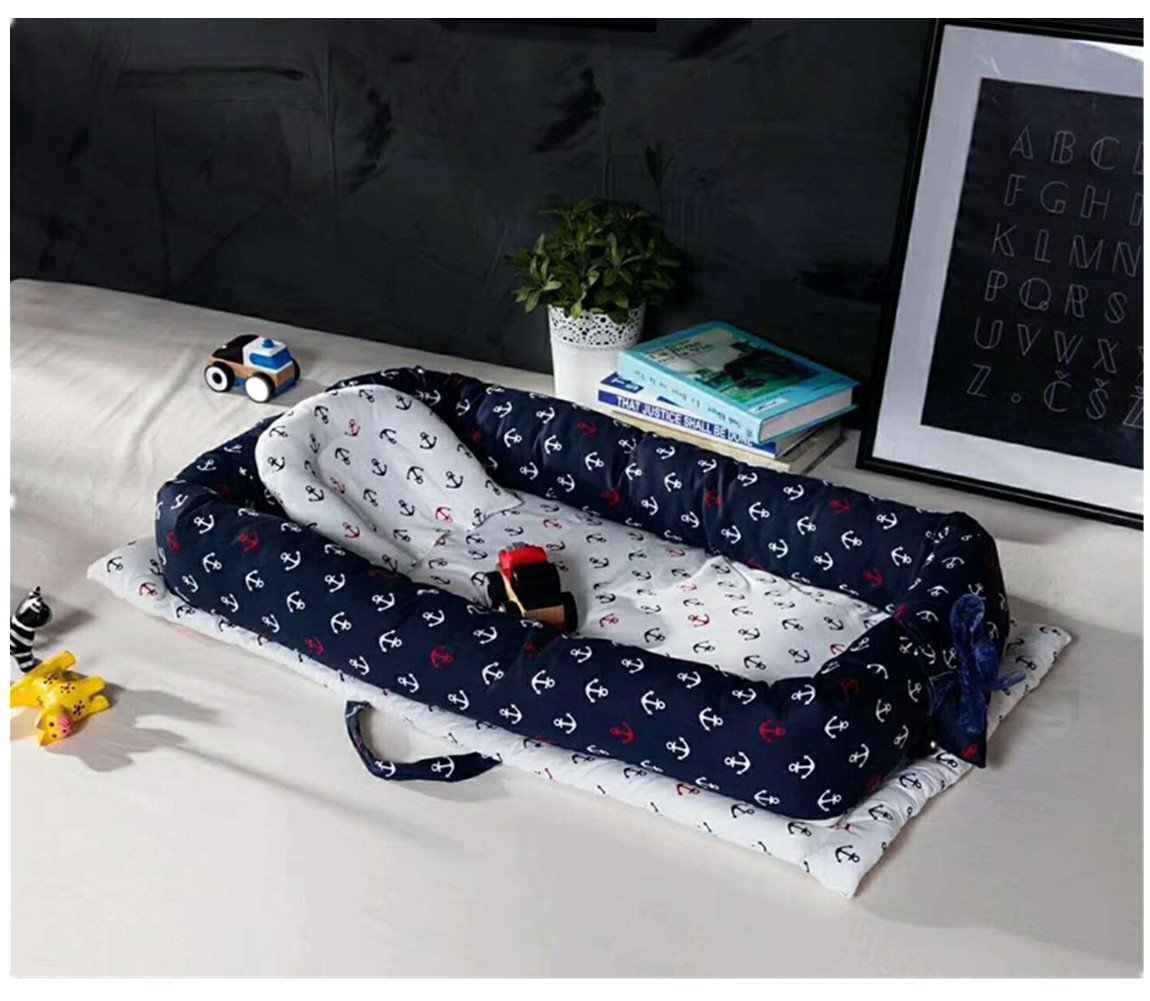 Baby Portable Travel Bed Side Sleeper for 0-24 Months Newborn Baby (Pirate) by U My Love