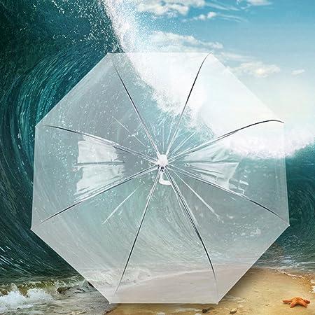 Paraguas, Parasol, Clear Bubble transparente cúpula de la seta Princesa PE paraguas para el banquete de boda: Amazon.es: Equipaje