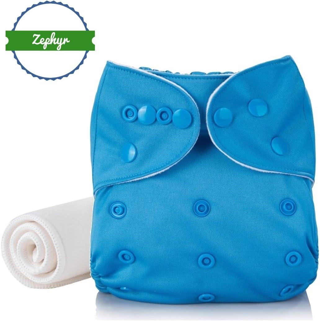 Beige Couche lavable /& r/éutilisable Zephyr/® 0 /à 3 ans Insert Coton /& Bamboo